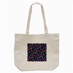 Flowers Roses Floral Flowery Blue Background Tote Bag (Cream)