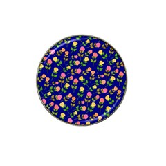 Flowers Roses Floral Flowery Blue Background Hat Clip Ball Marker