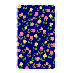Flowers Roses Floral Flowery Blue Background Memory Card Reader