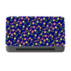 Flowers Roses Floral Flowery Blue Background Memory Card Reader with CF