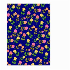 Flowers Roses Floral Flowery Blue Background Large Garden Flag (Two Sides)