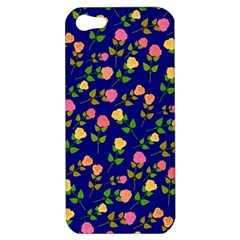 Flowers Roses Floral Flowery Blue Background Apple iPhone 5 Hardshell Case