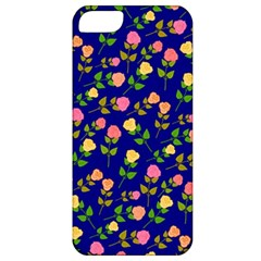 Flowers Roses Floral Flowery Blue Background Apple iPhone 5 Classic Hardshell Case