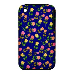 Flowers Roses Floral Flowery Blue Background iPhone 3S/3GS