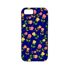 Flowers Roses Floral Flowery Blue Background Apple iPhone 5 Classic Hardshell Case (PC+Silicone)