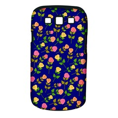 Flowers Roses Floral Flowery Blue Background Samsung Galaxy S III Classic Hardshell Case (PC+Silicone)