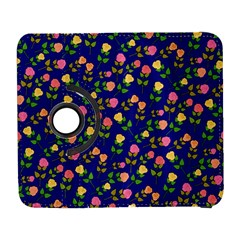Flowers Roses Floral Flowery Blue Background Galaxy S3 (Flip/Folio)