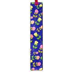 Flowers Roses Floral Flowery Blue Background Large Book Marks