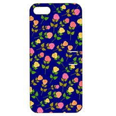Flowers Roses Floral Flowery Blue Background Apple iPhone 5 Hardshell Case with Stand