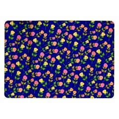 Flowers Roses Floral Flowery Blue Background Samsung Galaxy Tab 10.1  P7500 Flip Case