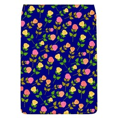 Flowers Roses Floral Flowery Blue Background Flap Covers (L)