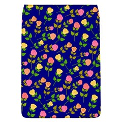 Flowers Roses Floral Flowery Blue Background Flap Covers (S)