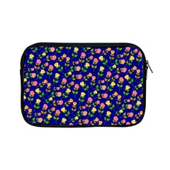 Flowers Roses Floral Flowery Blue Background Apple iPad Mini Zipper Cases