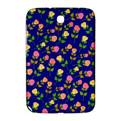 Flowers Roses Floral Flowery Blue Background Samsung Galaxy Note 8.0 N5100 Hardshell Case