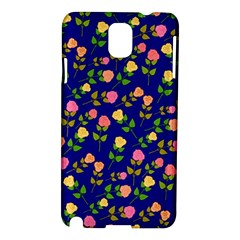 Flowers Roses Floral Flowery Blue Background Samsung Galaxy Note 3 N9005 Hardshell Case