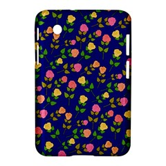 Flowers Roses Floral Flowery Blue Background Samsung Galaxy Tab 2 (7 ) P3100 Hardshell Case