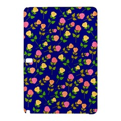 Flowers Roses Floral Flowery Blue Background Samsung Galaxy Tab Pro 10.1 Hardshell Case