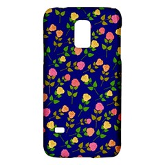 Flowers Roses Floral Flowery Blue Background Galaxy S5 Mini