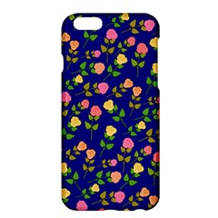 Flowers Roses Floral Flowery Blue Background Apple Iphone 6 Plus/6s Plus Hardshell Case
