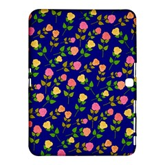 Flowers Roses Floral Flowery Blue Background Samsung Galaxy Tab 4 (10 1 ) Hardshell Case