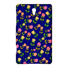Flowers Roses Floral Flowery Blue Background Samsung Galaxy Tab S (8 4 ) Hardshell Case