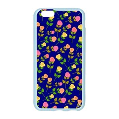 Flowers Roses Floral Flowery Blue Background Apple Seamless iPhone 6/6S Case (Color)