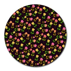 Flowers Roses Floral Flowery Round Mousepads