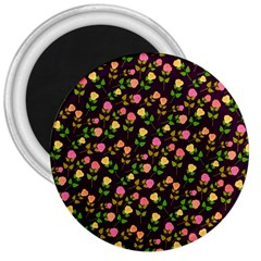 Flowers Roses Floral Flowery 3  Magnets