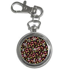 Flowers Roses Floral Flowery Key Chain Watches