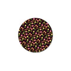Flowers Roses Floral Flowery Golf Ball Marker (4 pack)