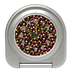 Flowers Roses Floral Flowery Travel Alarm Clocks