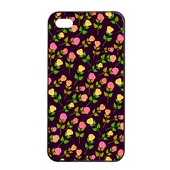Flowers Roses Floral Flowery Apple iPhone 4/4s Seamless Case (Black)