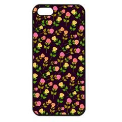 Flowers Roses Floral Flowery Apple Iphone 5 Seamless Case (black)