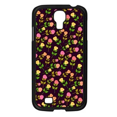 Flowers Roses Floral Flowery Samsung Galaxy S4 I9500/ I9505 Case (Black)