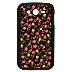 Flowers Roses Floral Flowery Samsung Galaxy Grand DUOS I9082 Case (Black)