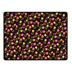 Flowers Roses Floral Flowery Double Sided Fleece Blanket (Small)