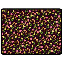 Flowers Roses Floral Flowery Double Sided Fleece Blanket (large)