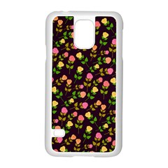 Flowers Roses Floral Flowery Samsung Galaxy S5 Case (White)