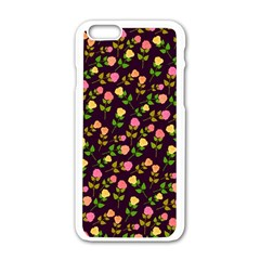 Flowers Roses Floral Flowery Apple iPhone 6/6S White Enamel Case