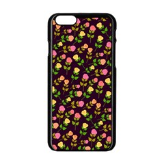 Flowers Roses Floral Flowery Apple iPhone 6/6S Black Enamel Case