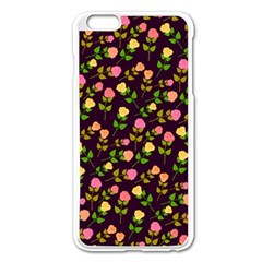 Flowers Roses Floral Flowery Apple Iphone 6 Plus/6s Plus Enamel White Case