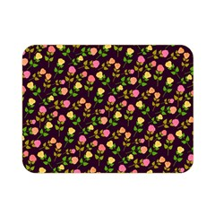 Flowers Roses Floral Flowery Double Sided Flano Blanket (Mini)