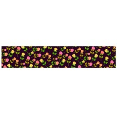 Flowers Roses Floral Flowery Flano Scarf (Large)