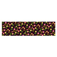 Flowers Roses Floral Flowery Satin Scarf (oblong)