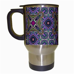 Vintage Abstract Unique Original Travel Mugs (white)
