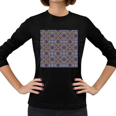 Vintage Abstract Unique Original Women s Long Sleeve Dark T Shirts