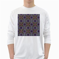 Vintage Abstract Unique Original White Long Sleeve T-Shirts