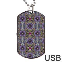 Vintage Abstract Unique Original Dog Tag USB Flash (One Side)