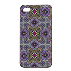 Vintage Abstract Unique Original Apple Iphone 4/4s Seamless Case (black)