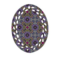 Vintage Abstract Unique Original Oval Filigree Ornament (Two Sides)